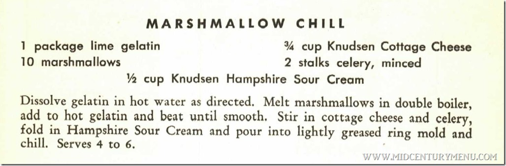 Marshmallow Chill - From Knudsen Recipes For Greater Food Value