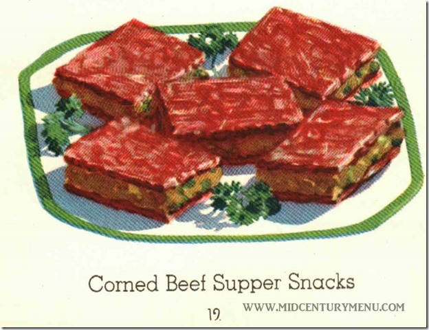 Corned Beef Supper Snacks II - From Thrifty New Tips on a Grand Old Favorite, Heinz, 1932