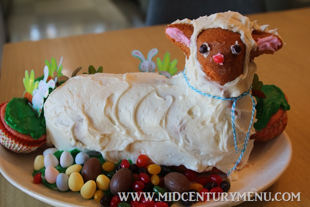 Sour Cream Cake Mix Lamb Cake – A Vintage Recipe Test
