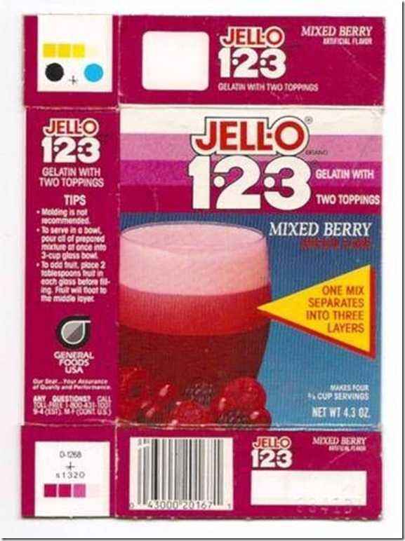 Jello 123 mixed berry