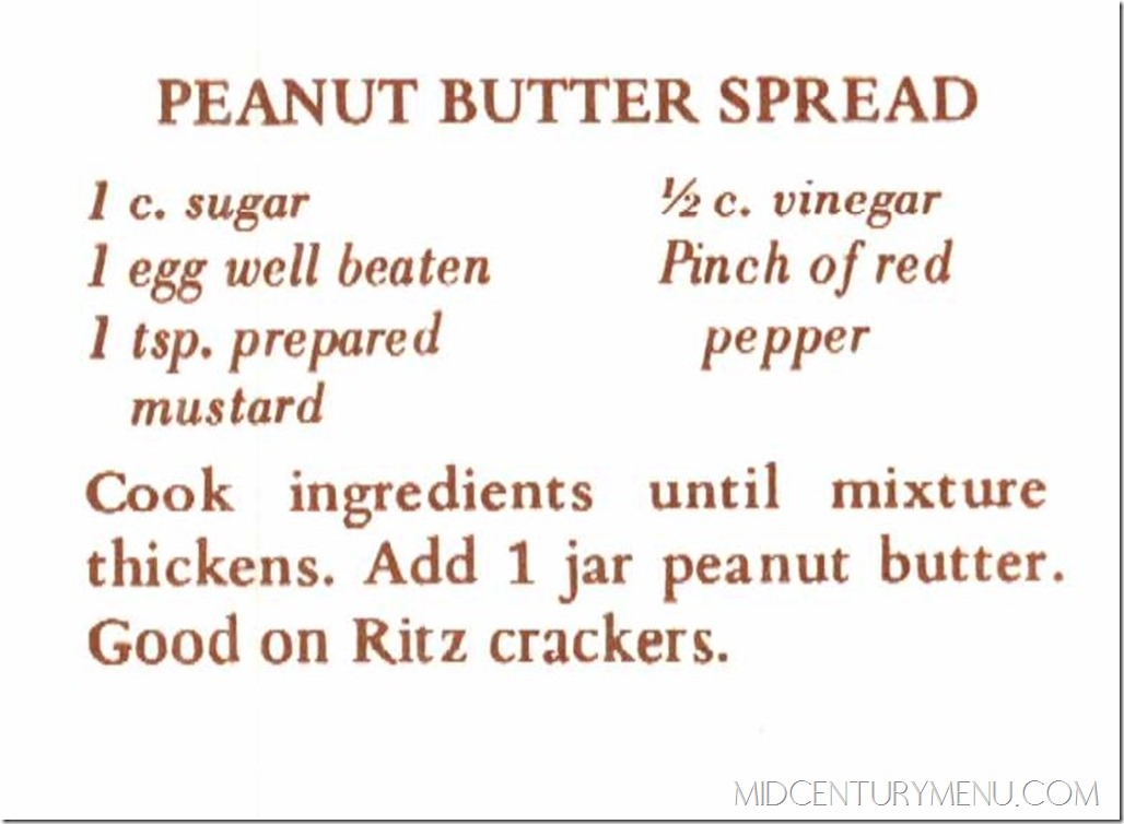 Peanut Butter Spread - From The Peanut Cookbook of Plains Georgia, 1976