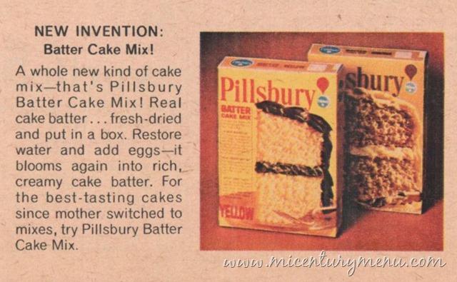 Pillsbury Batter Cake Mix, 1968 – Mid-Century Shopping Cart